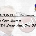 JACONELLI dénouement: Open Letter to SBC Leader Cllr Tom FOX