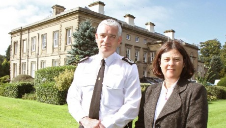 CC Dave Jones and PCC Julia Mulligan at Newby Wiske Hall