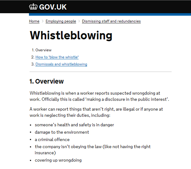 WHISTLEBLOWING _GOVUK