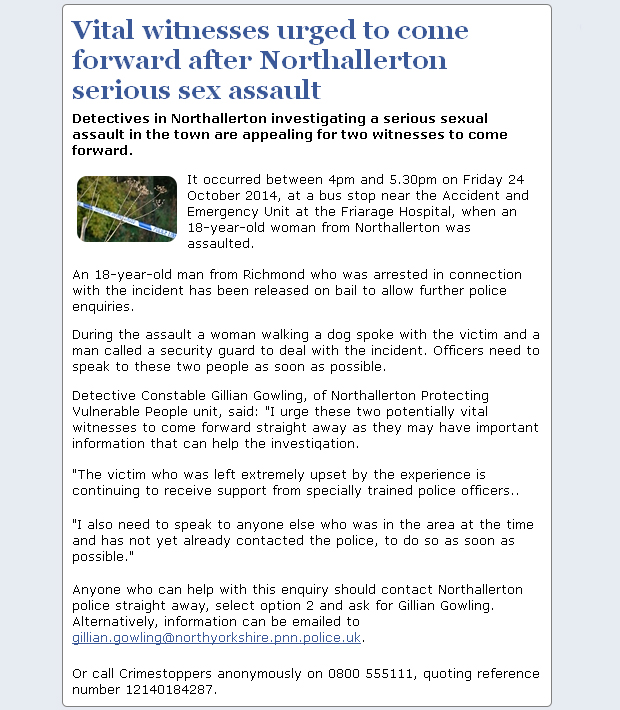 NYP_Northallerton_Assault