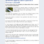 Witness Appeal After Queen's Terrace Assault