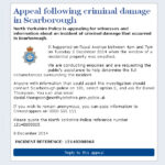 Appeal Following Criminal Damage In Scarborough