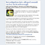 NYP: Investigation Into Alleged Assault On Scarborough Boy
