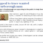 NYP: Appeal To Trace Another Wanted Scarborough Man