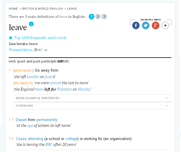 LEAVE_definition