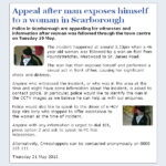 NYP: Witness Appeal re Scarborough Flasher