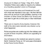 NYP: Appeal – Armed Robbery In Whitby