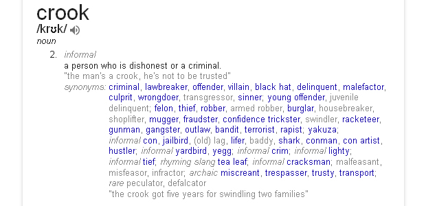 CROOK_Definition