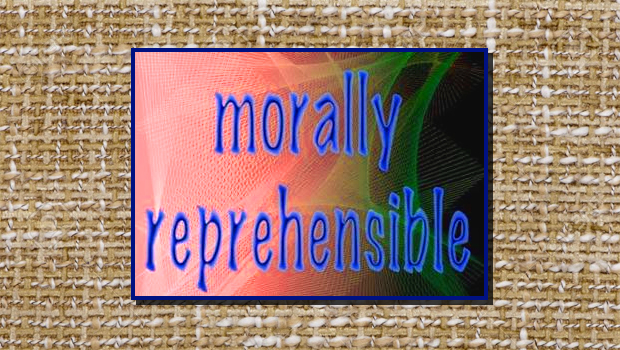 plaghiarism is morally reprehenisible discuss Chapter three: moral objectivism the position of moral objectivism: there are objective moral principles, valid for all people and all social environments.
