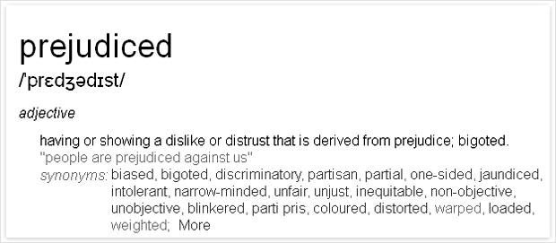 prejudiced_definition