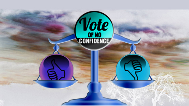 Definition of 'vote of no confidence'