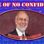 """No Confidence in Goddfrey[sic]"""