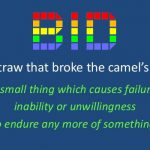 DBID – The Straw that Broke . . .